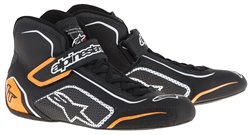 Alpinestars Tech 1-T Shoes Black White Orange Fluo