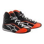 Alpinestars Tech 1-K Start Karting Shoes Kids Black White Orange Fluo 30