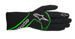 Alpinestars Tech 1-Race Glove Black Green Fluo