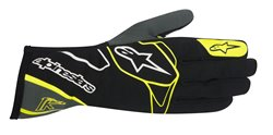 Alpinestars Tech 1-K Glove Black Anthracite Yellow Fluo