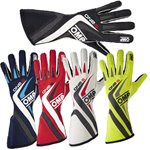 OMP Gloves ONE EVO-S Navy Blue/White/Cyan L