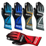 Karting Gloves Sparco Rush azure blue/black