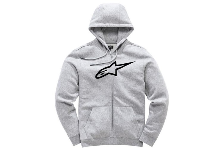 Ageless II Zip Hoodie Grau heather Schwarz S