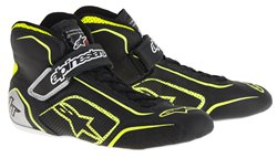 Alpinestars Tech 1-T Shoes Black Yellow Fluo Silver 40