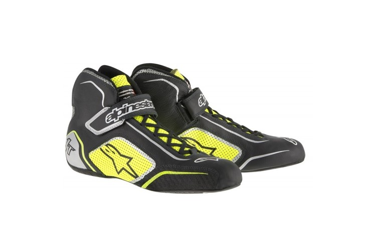 Alpinestars Tech 1-T Shoes Black Yellow Fluo 40.5