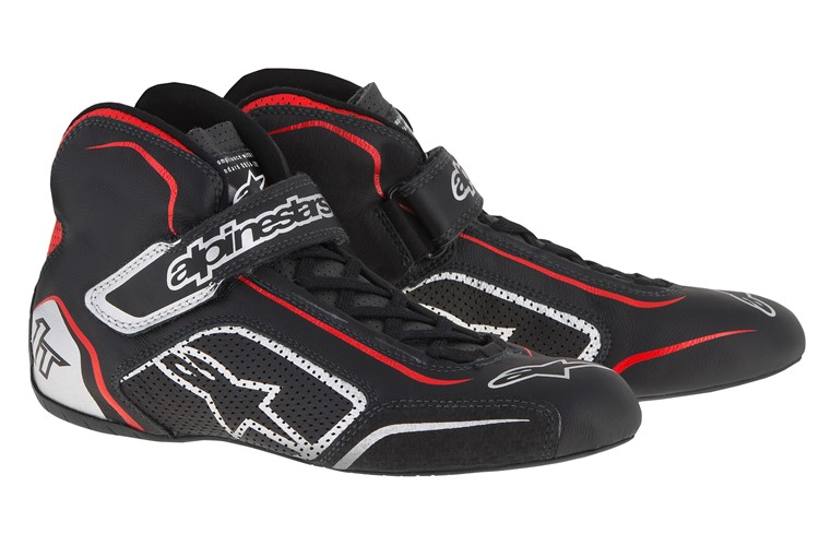 Alpinestars Tech 1-T Shoes Black Silver Red