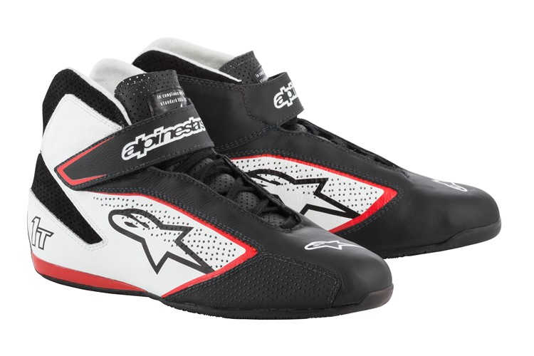 Alpinestars Tech 1-T Shoes Black White Red 44