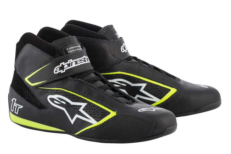 Alpinestars Tech 1-T Shoes Black White Yellow Fluo 42