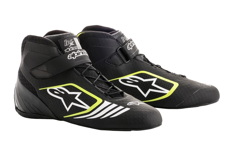 Alpinestars Karting Shoes Tech-1KX Black Yellow Fluo 45.5