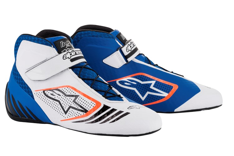 Alpinestars Karting Schuhe Tech 1-KX  Blau Weiß Orange Fluo 41
