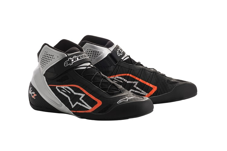 Alpinestars Karting Shoes Tech-1KZ Black Silver Orange Fluo 34