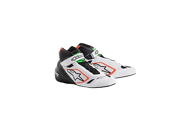 Alpinestars Karting Shoes Tech-1KZ White Black Fluo Orange 38