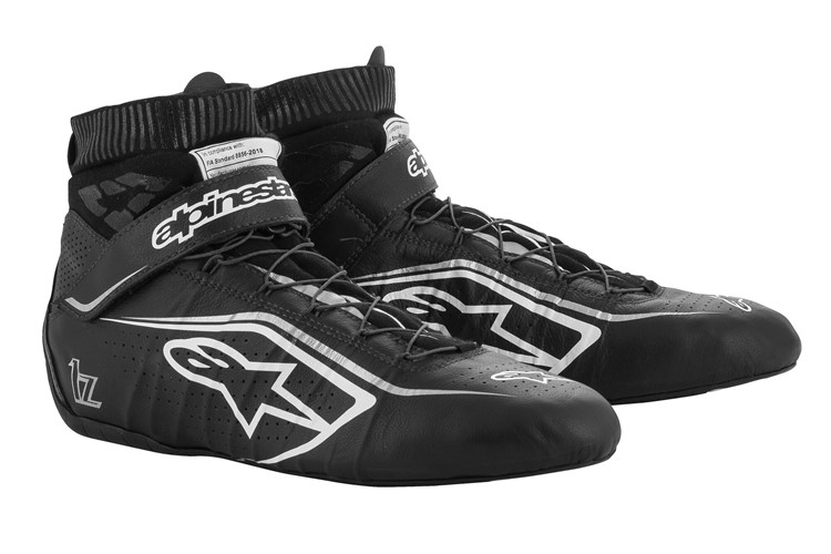 Alpinestars Tech 1-Z V2 Shoes Black White Silver 37