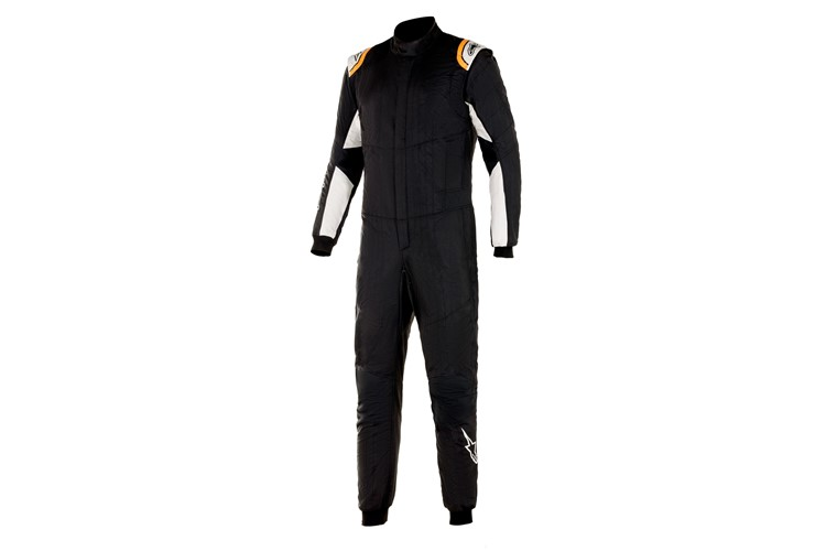 Alpinestars Hypertech V2 Suit Black White Orange Fluo 48