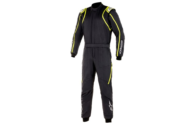 Alpinestars GP Race V2 Suit Black Yellow Fluo 58