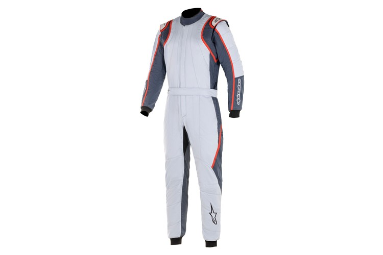 Alpinestars GP Race V2 Suit Silver Asphalt Red 60