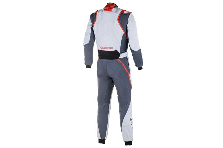 Alpinestars GP Race V2 Suit Silver Asphalt Red 46