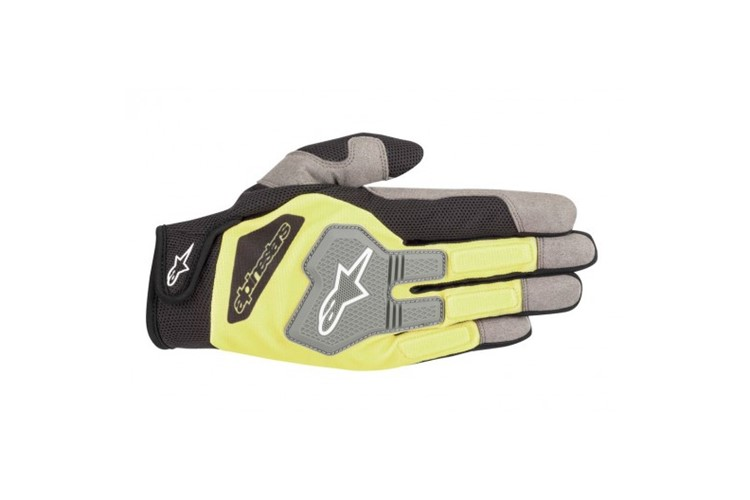 Alpinestars Engine Gloves Black Fluo Yellow L