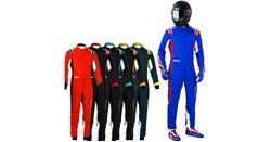 SPARCO Suit Youth Thunder azure blue/red