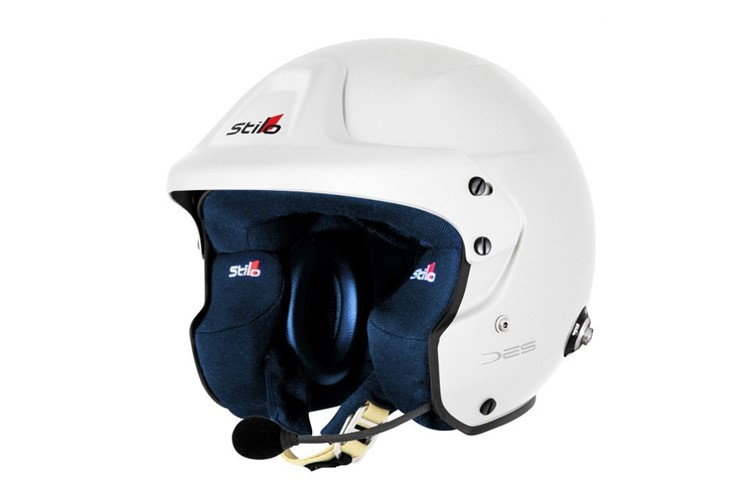 STILO Helmet Trophy DES Plus Composite WHITE / BLUE 54